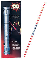 star wars darth maul 2 two double sided red light saber halloween