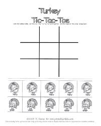printable thanksgiving turkey tic tac toe printables for