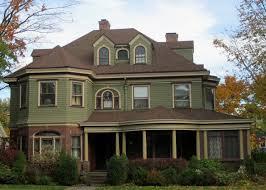 brown roof green house house paint ideas pinterest prospect