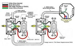 how to wire ceiling fan with two wall switches integralbook com