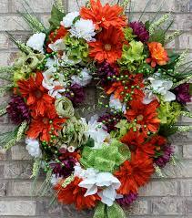 oversized wreath summer wreath orange wreath bridal wreath