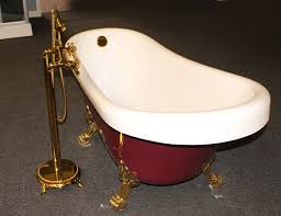 Claw Tub Faucets Classic Clawfoot Tub W Regal Brass Lion Feet Gold Telephone