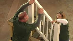 How To Install Stair Banister How To Install Trex Select Railing On Deck Stairs Youtube