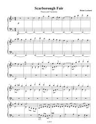 scarborough fair advanced piano sheet by