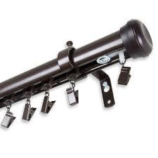 Split Draw Traverse Rod by Rod Desyne 86 In 120 In Telescoping Traverse Curtain Rod Kit