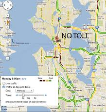 seattle map traffic sr 520 before and after tolling sightline institute