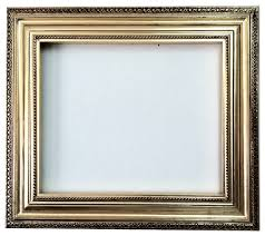 decorative wall mirror frame in bright gold leaf bronze with brown