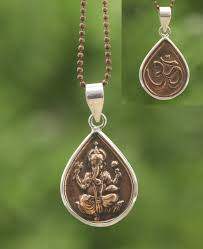 copper necklace images Copper and silver om ganesh pendant necklace jpg