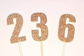 number cake topper 6cm number cake pokes cake toppers gold or silver birthday