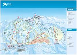 China Peak Map by Coronet Peak Piste Map Trail Map