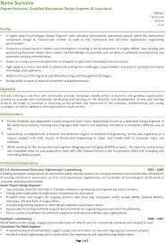 Best Mechanical Engineer Resume by Design Engineer Resume Berathen Com