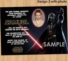 Personalized Invitation Card For Birthday Star Wars Birthday Invitation Custom Photo Invite Star