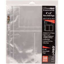 photo album refill pages 4x6 3 ring ultra pro 8 5 x11 refill pages 10 pkg for 4 x6 photos walmart