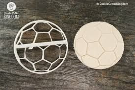soccer ball cookie cutter and soccer ball stamp