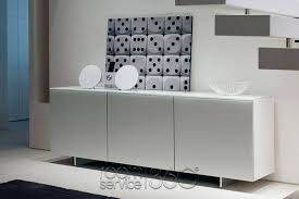 White Sideboard With Glass Doors Futura Modern Lacquered Buffet By Cattelan Italia Made In Italy