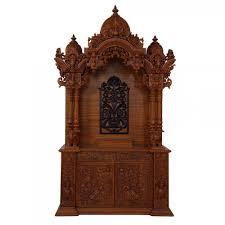 indian spiritual teak wood carving home pooja mandir in usa