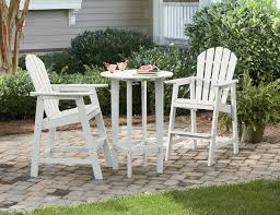 Ty Pennington Bar by Garden Oasis Amc 173aw Faux Wood Adirondack Bar Set White
