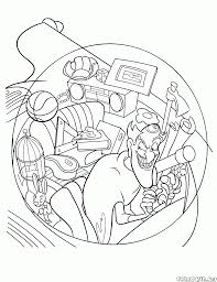 coloring page time machine