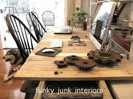 bureau palette bois que faire des palettes de bois idées deco et design simple