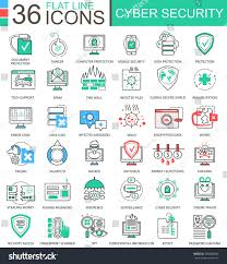vector cyber security modern color flat stock vector 489088444