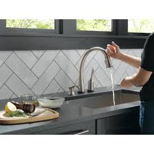 delta widespread bathroom faucet delta tesla series widespread