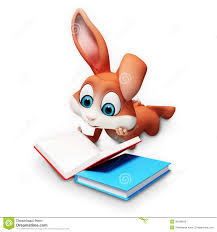 easter bunny book easter bunny reading a books stock illustration illustration of