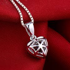 necklace pictures free images Hot sell solid 14k white gold diamond red ruby heart pendant jpg