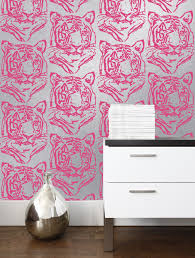 burke home decor star tiger mylar wallpaper in silver neon design by aimee wilder