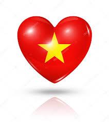 Viet Nam Flag Amo O Vietnã ícone De Bandeira Do Coração U2014 Stock Photo Daboost