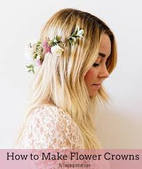 flower headpiece diy how to make flower crowns conrad