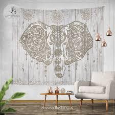 boho elephant wall tapestry ethno ganesh elephant wall hanging