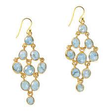 aquamarine earrings tara chandelier earrings aquamarine silver by sushilla