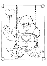 coloring graceful care bears coloring bear pages printable