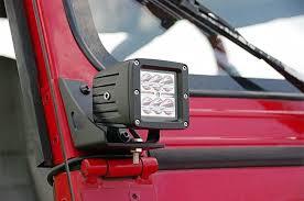 lower windshield light mounts for 87 95 jeep yj wrangler 70510