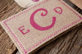 burlap wedding invitations erin david s rustic pink burlap wedding invitations