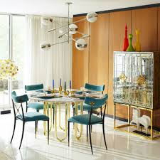 Yellow Dining Room Table by Wonderful Dining Room With Blue Chairs And Round Table Popular