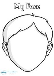 blank boy face colouring coloring pages quoteko crafting