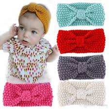 crochet band 2018 kids girl baby toddler crochet bow headband hair band