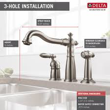 installing delta kitchen faucet 155 ss dst single handle kitchen faucet with spray