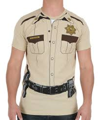 Halloween Costumes T Shirts by Sheriff Costume T Shirt
