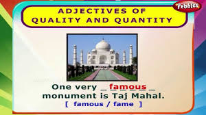 adjectives of quality and quantity english grammar exercises for