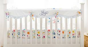 floral crib rail cover set morning dress collection
