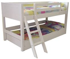White Wooden Bunk Bed Bedroom White Wood Full Size Teens Bunk Bed With Double Desks