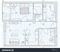 black white floor plan sketch house stock vector 557281261