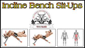 incline bench sit ups six pack abs workout exercise 1 by ws