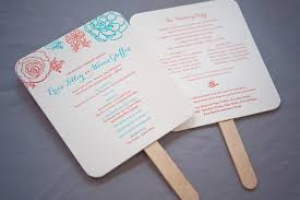 wedding ceremony fan programs all about wedding ceremony programs