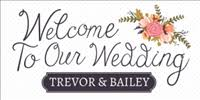 wedding welcome sign template custom floor decals graphics signs