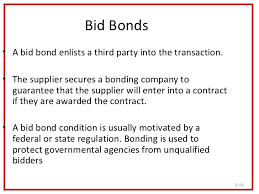 bid bond 5 facts about bid bonds form described
