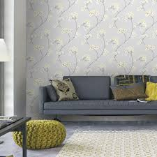 graham u0026 brown charcoal and silver innocence removable wallpaper