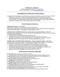 Resume It Sample by Technology Consultant Resume Free Resume Example And Writing